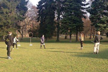 První trénink brněnského famfrpálového týmu